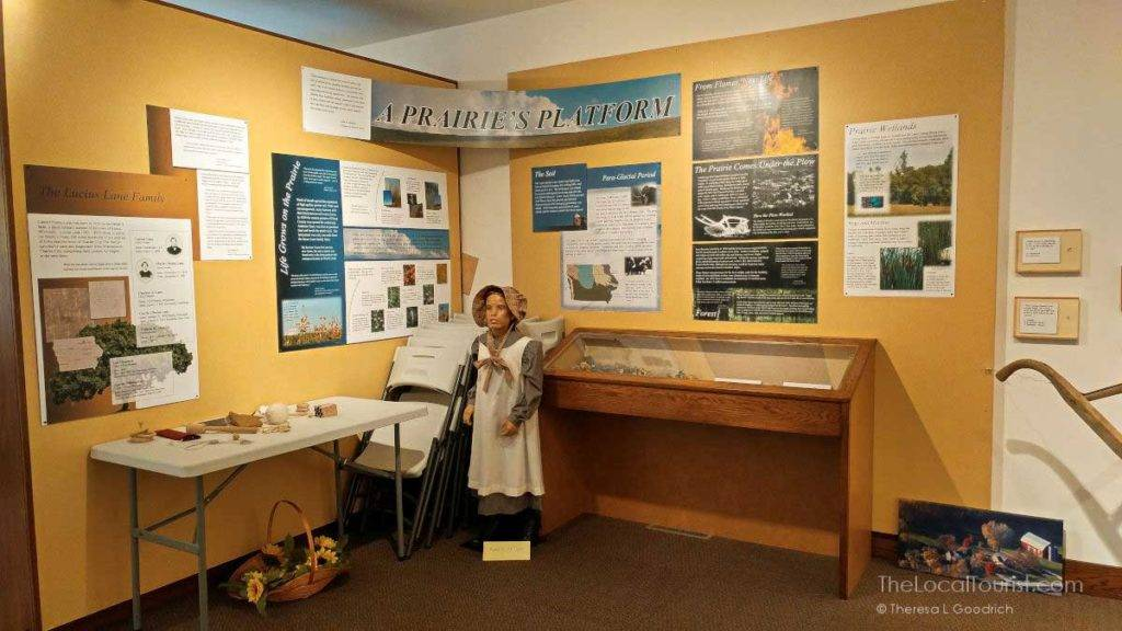 Display inside museum at Carrie Chapman Catt's Girlhood home