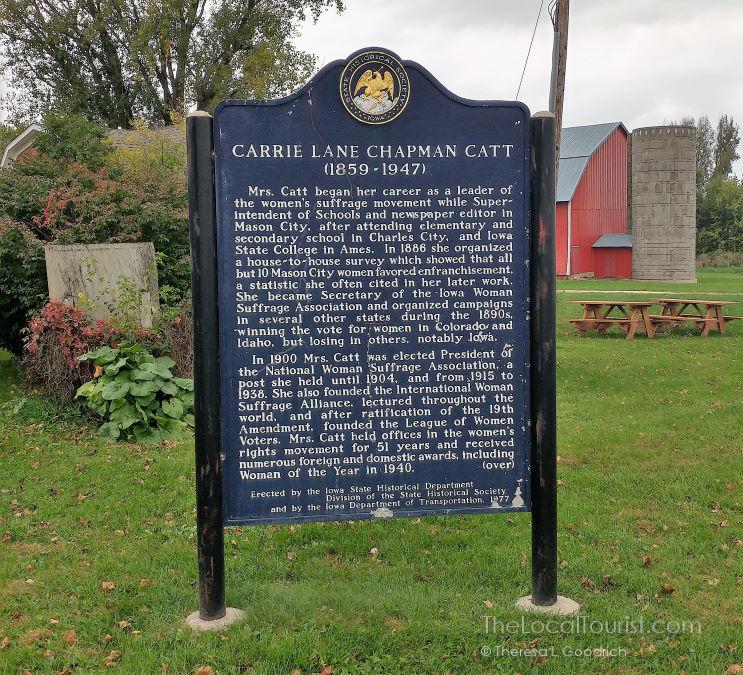 Historical Marker at Carrie Chapman Catt Girlhood Home