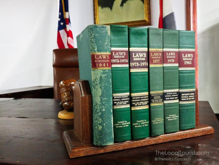 Books at the 1903 Courthouse Museum in Pulaski County
