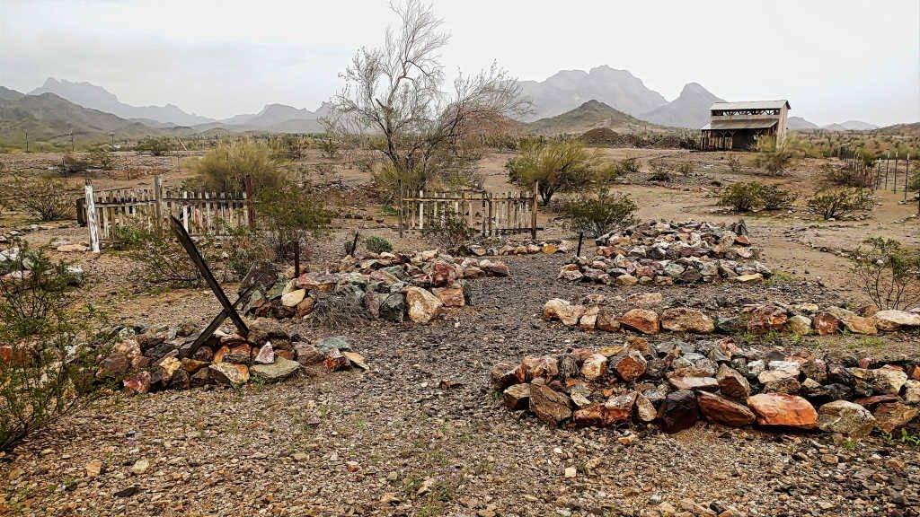 Graveyard at Castle Dome Mine Museum