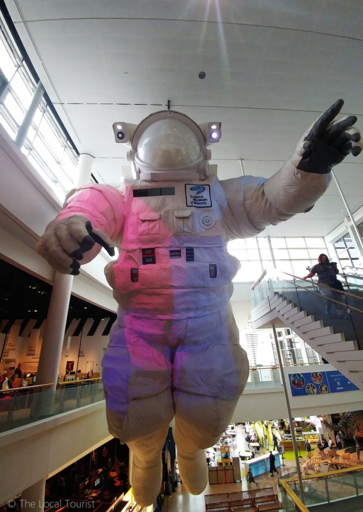 Giant astronaut at Science Museum of Minnesota