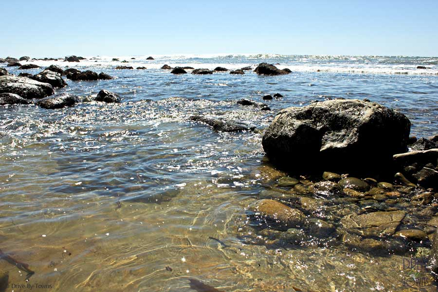 Pacific Ocean and tidal pools at Point Loma, San Diego, California