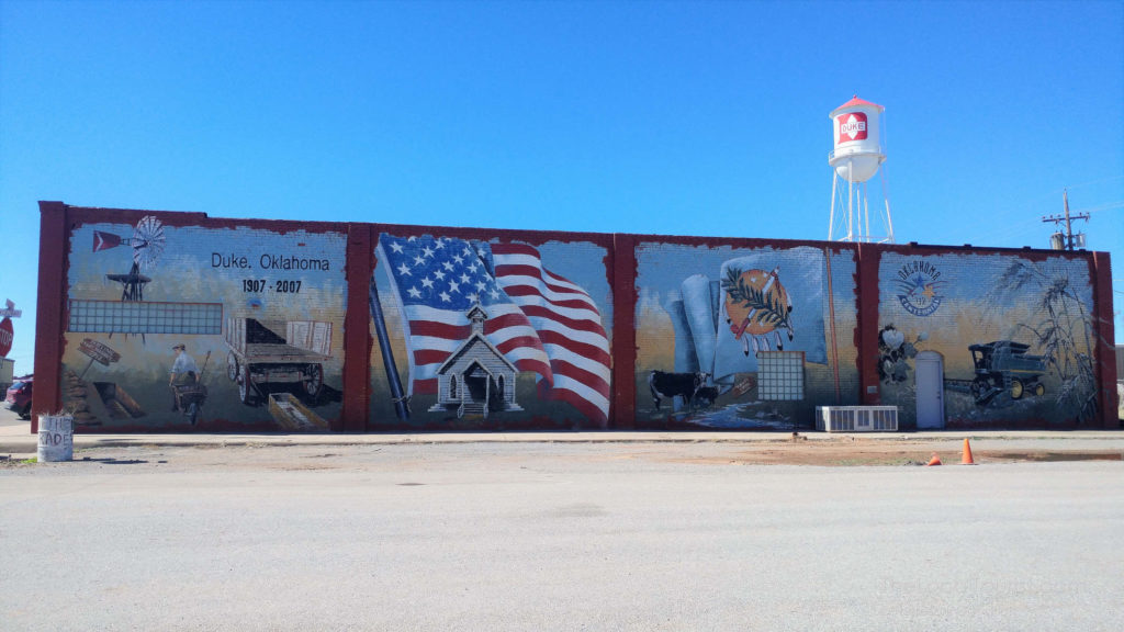 Mural in Duke, Oklahoma