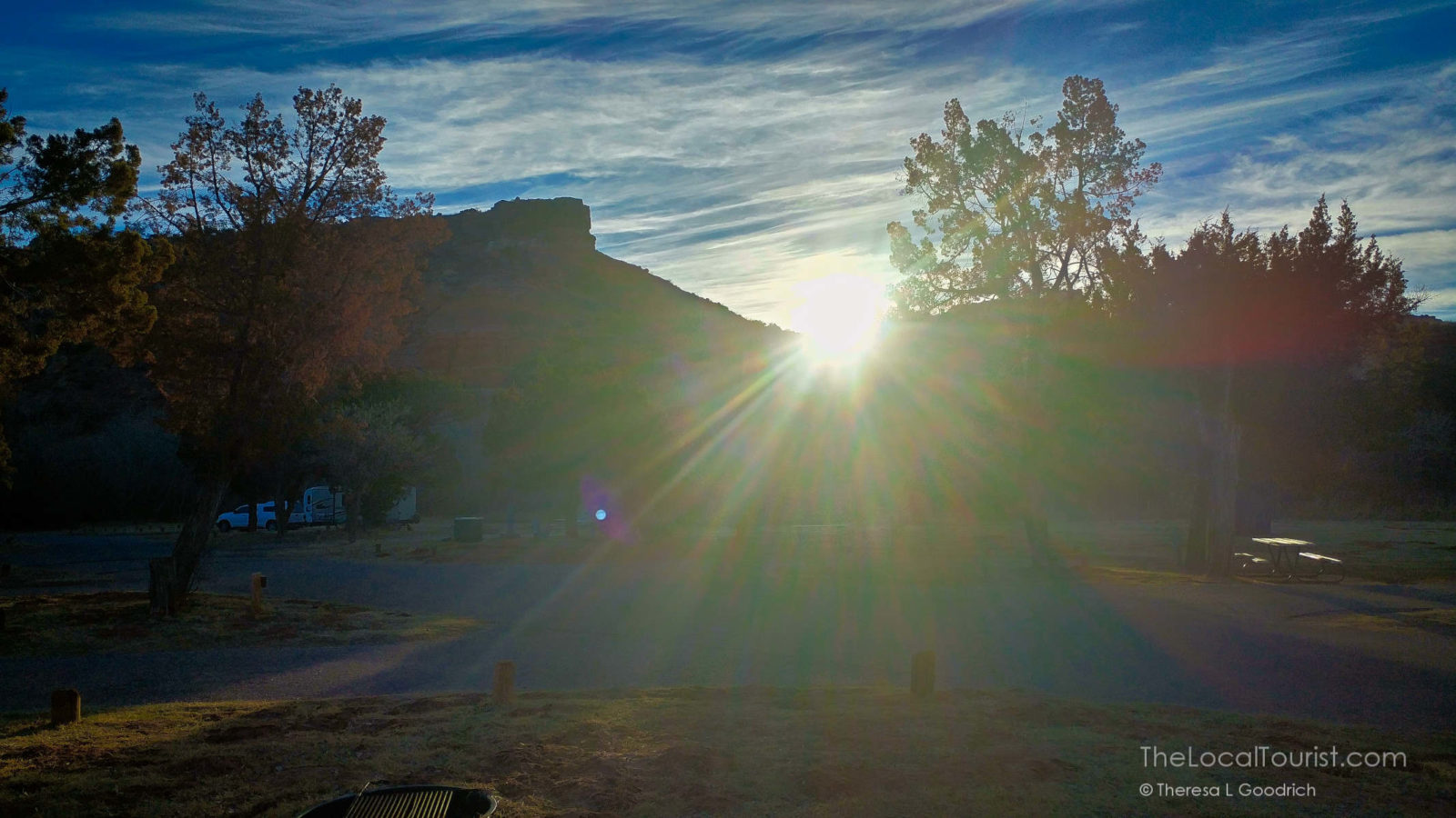 Sunrise at Palo Duro Canyon from Hackberry Campground