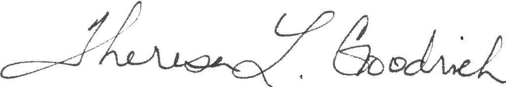 Theresa L. Goodrich signature