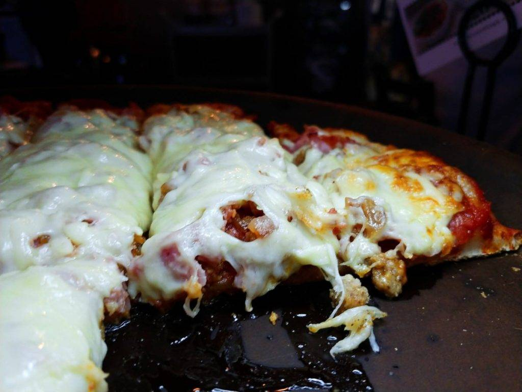 Bruno's Meat Pizza with ooey-gooey cheese and all the meat