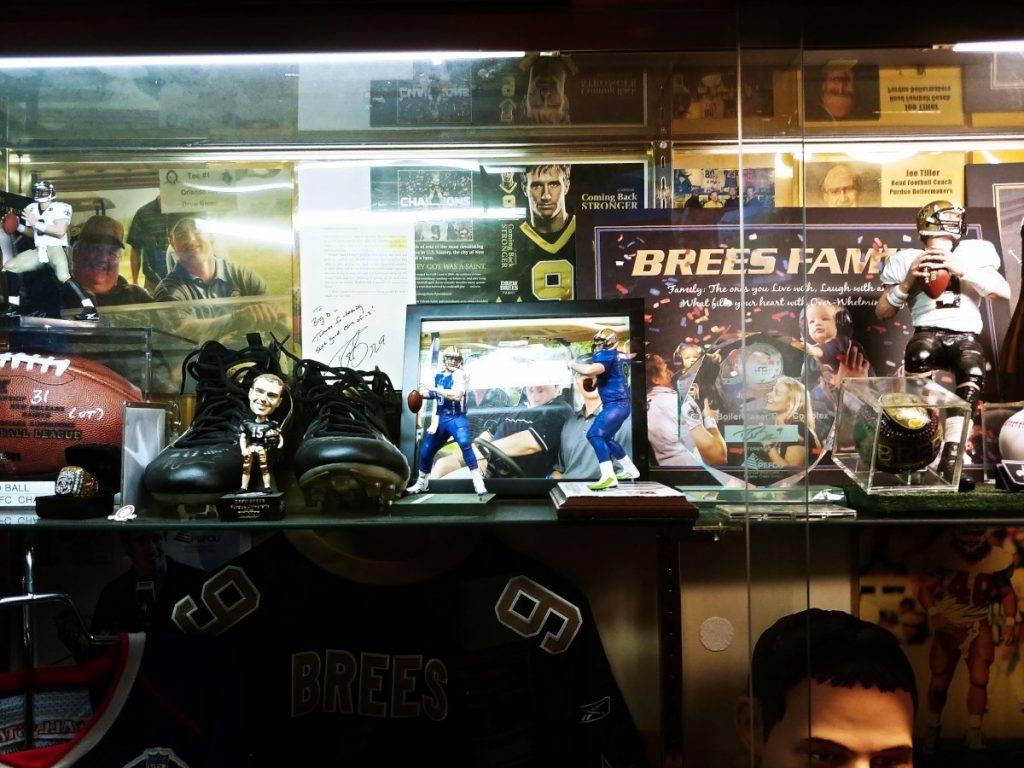 Memorabilia showcased in Big O's Sports Room