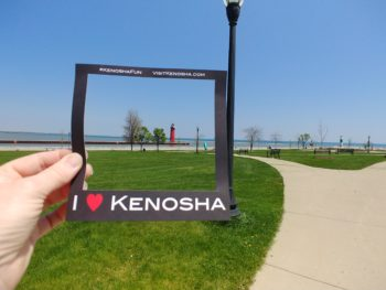 Kenosha frame and lighthouse