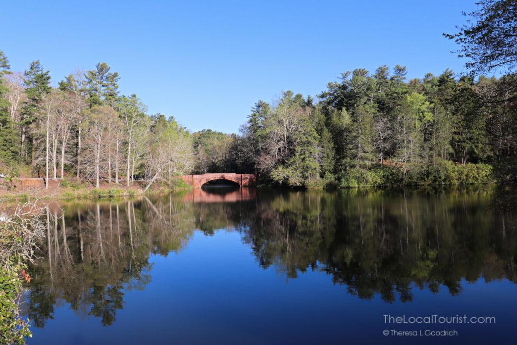 Bridge across the pond at Biltmore Estate