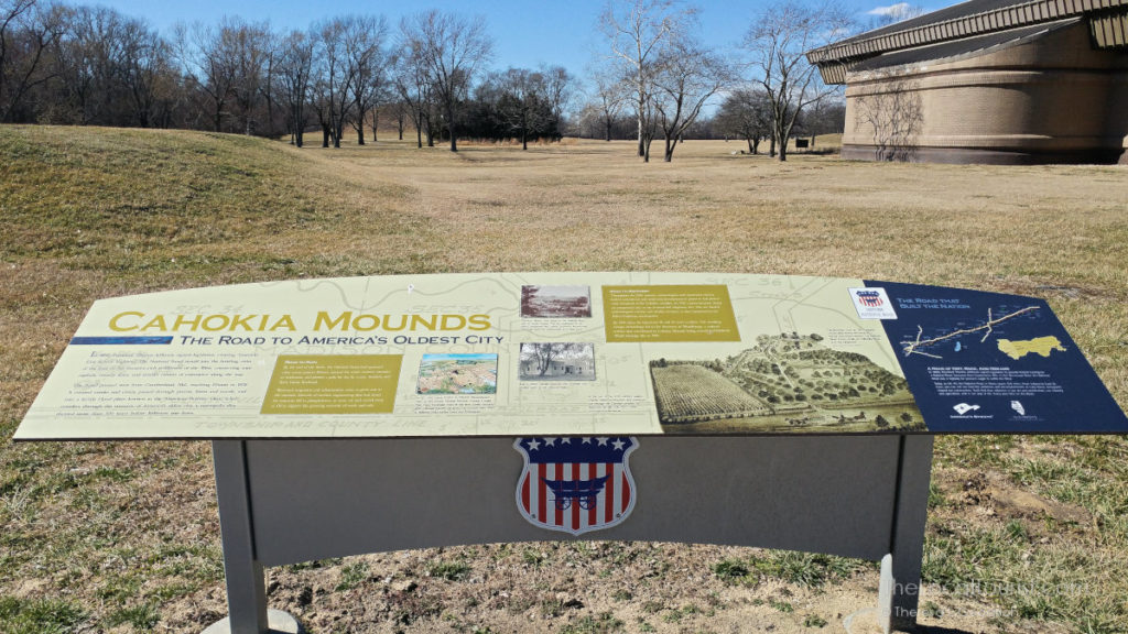 Introduction to Cahokia Mounds IL outside visitor center and interpretive museum