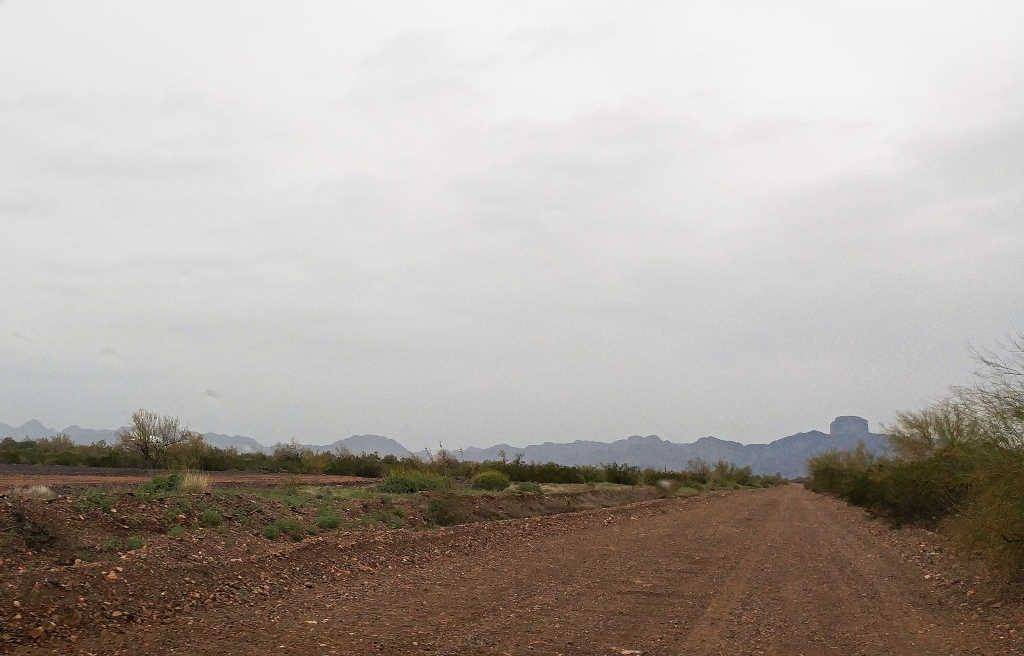 Castle Dome Mine Road leading to Castle Dome Mine Museum and Ghost Town near Yuma Arizona