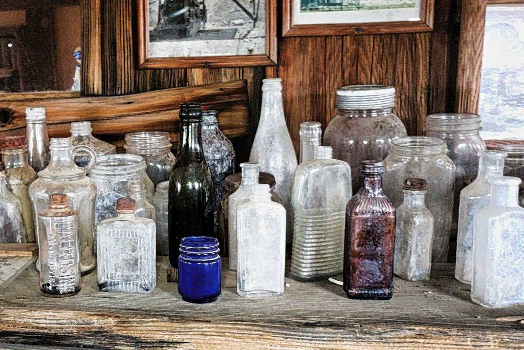 Old bottles found at Castle Dome City