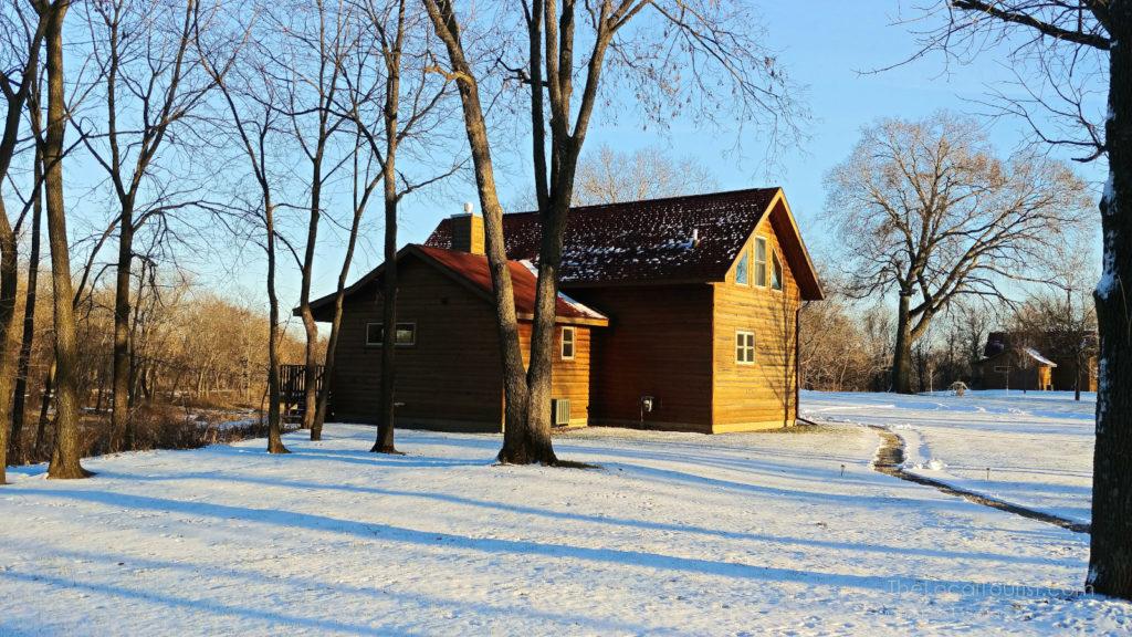 Red Cedar Lodge in winter