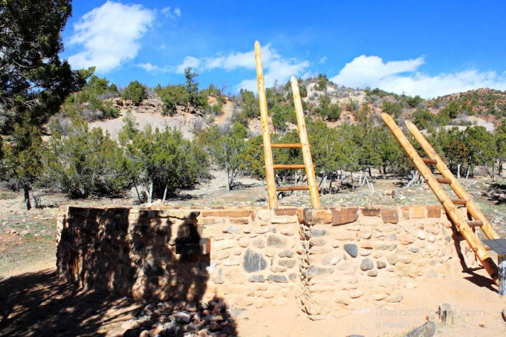 Kiva at Jemez Historic Site in New Mexico