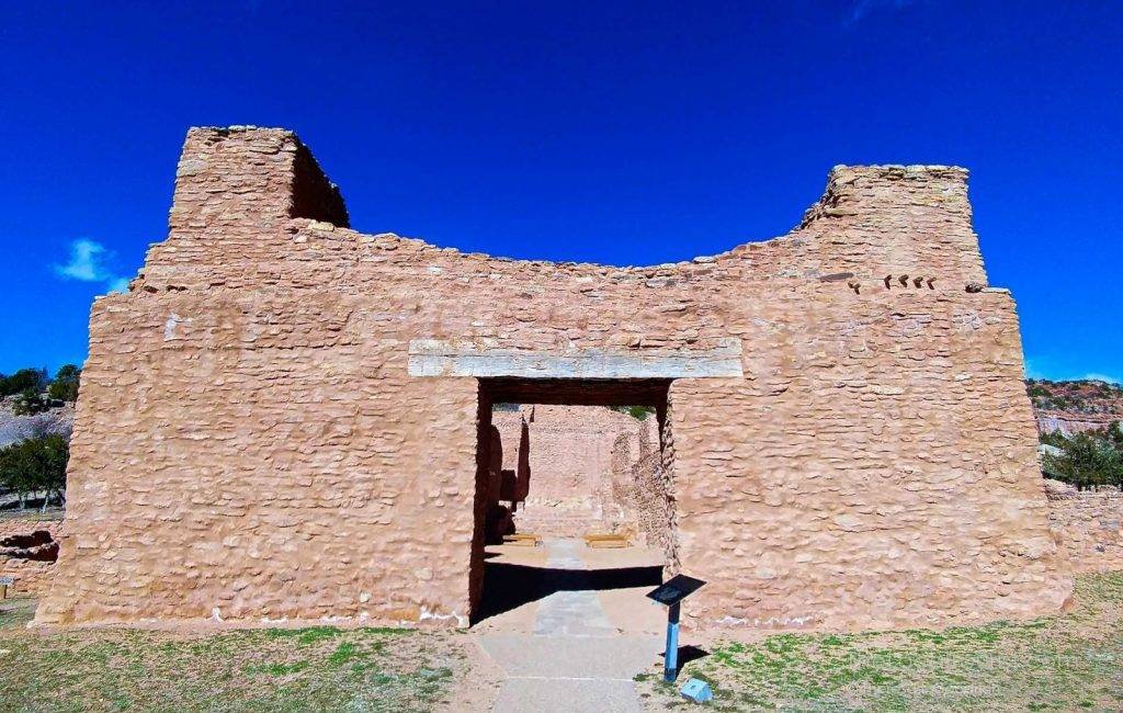 Missionary ruins at Jemez Historic Site