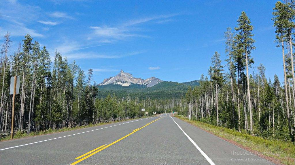 The drive to Crater Lake National Park