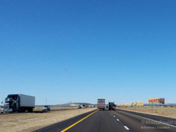 I-40 heading west to Albuquerque