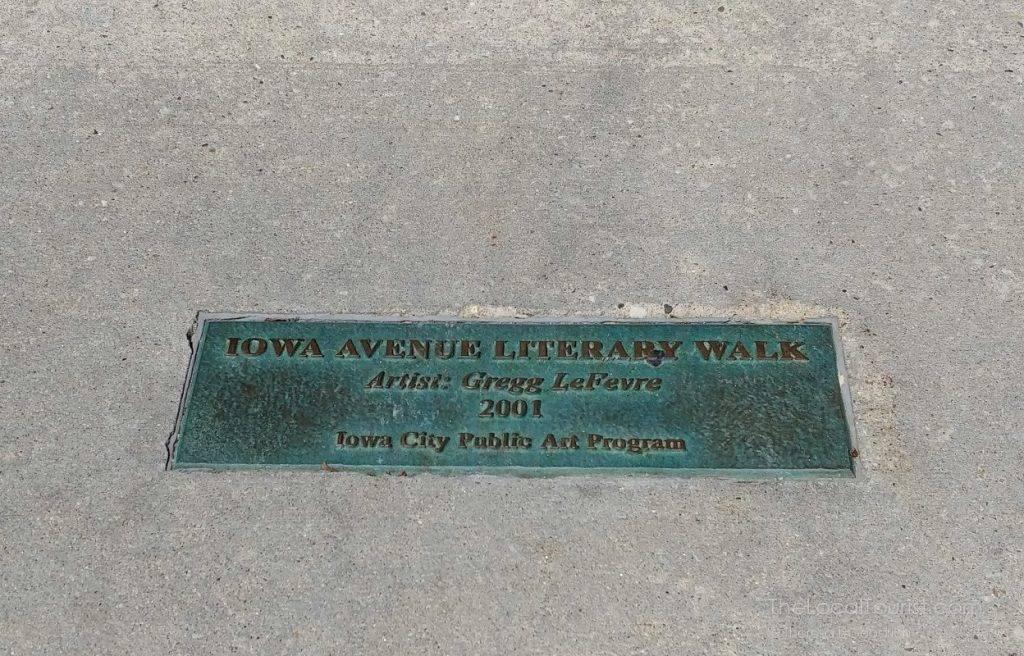 Iowa Avenue Literary Walk, one of the deciding factors in Iowa City's status as a UNESCO City of Literature