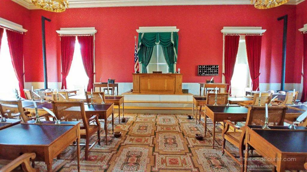 Restored chambers in the Old Capitol Museum