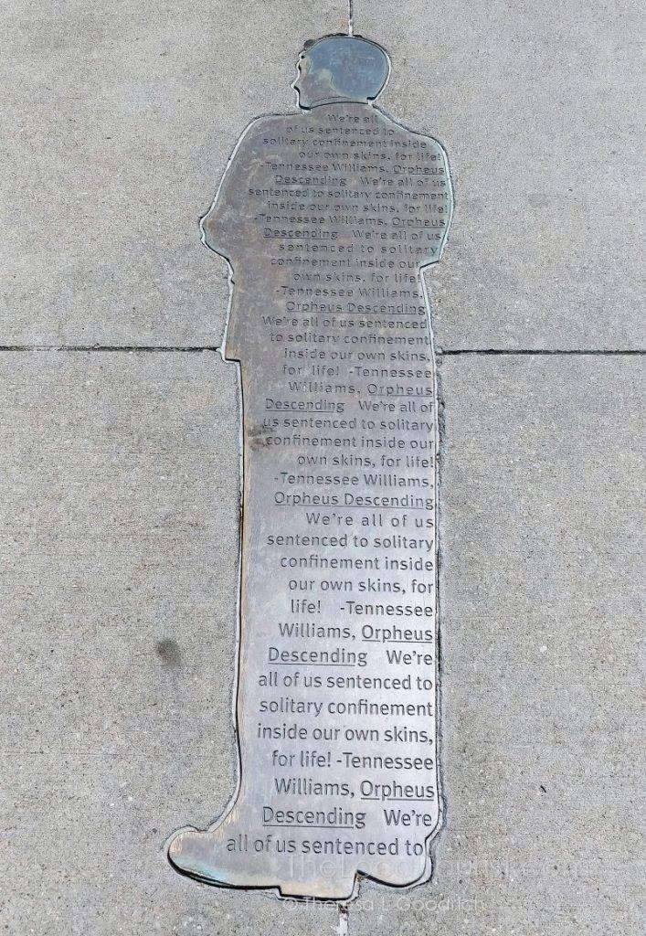 Tennessee Williams' quote on Iowa Avenue Literary Walk