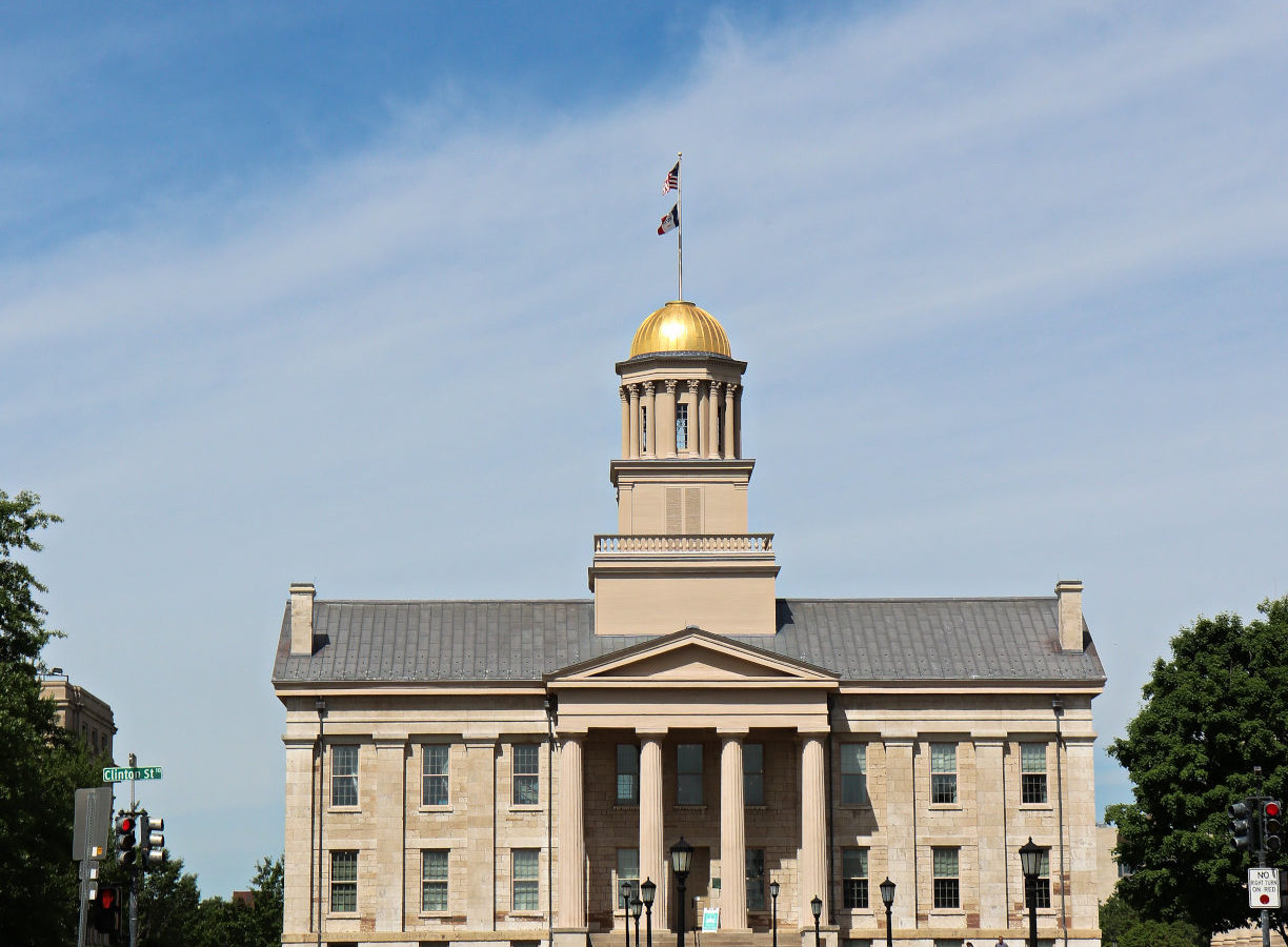 Old Capitol Building and Museum in Iowa City, a UNESCO City of Literature
