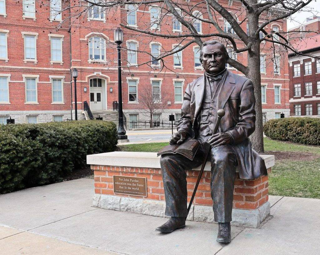 John Purdue Statue at Purdue University