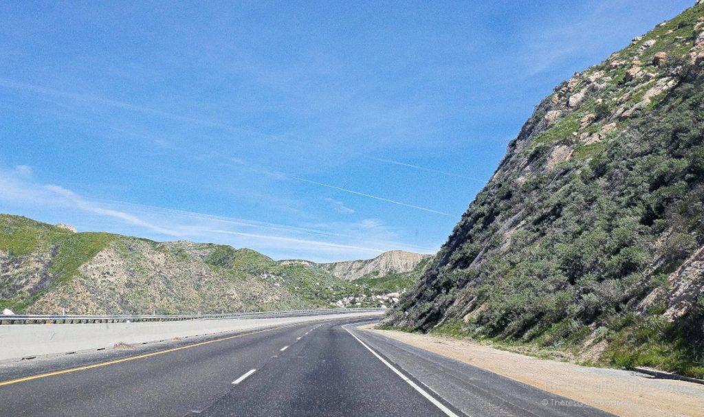 The drive to Joshua Tree National Park