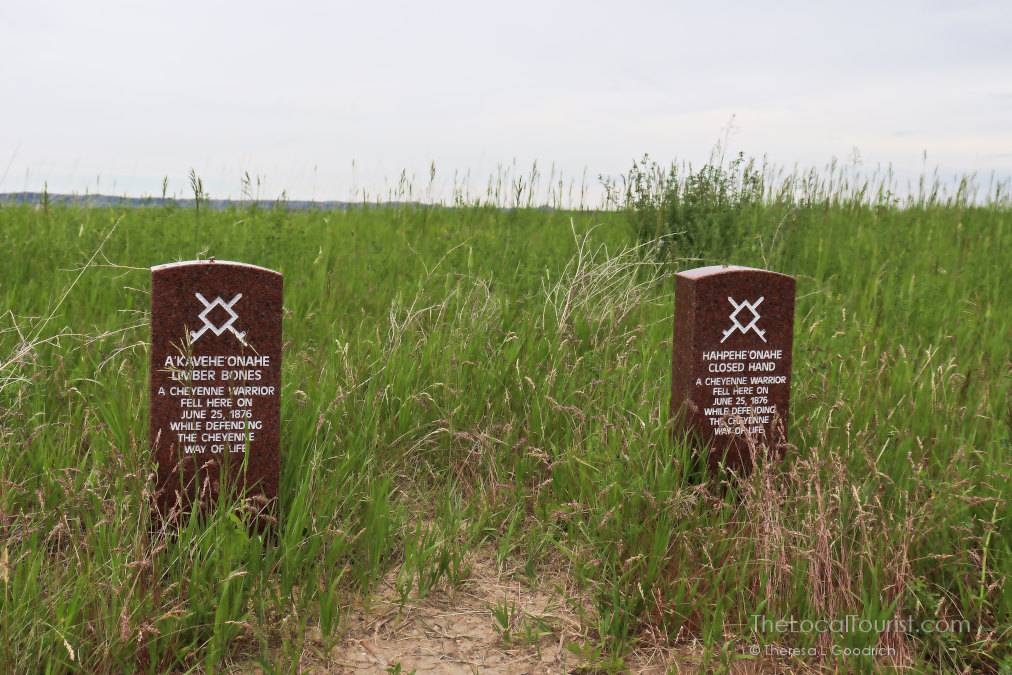 Little Bighorn Battlefield Photos: Native American grave markers