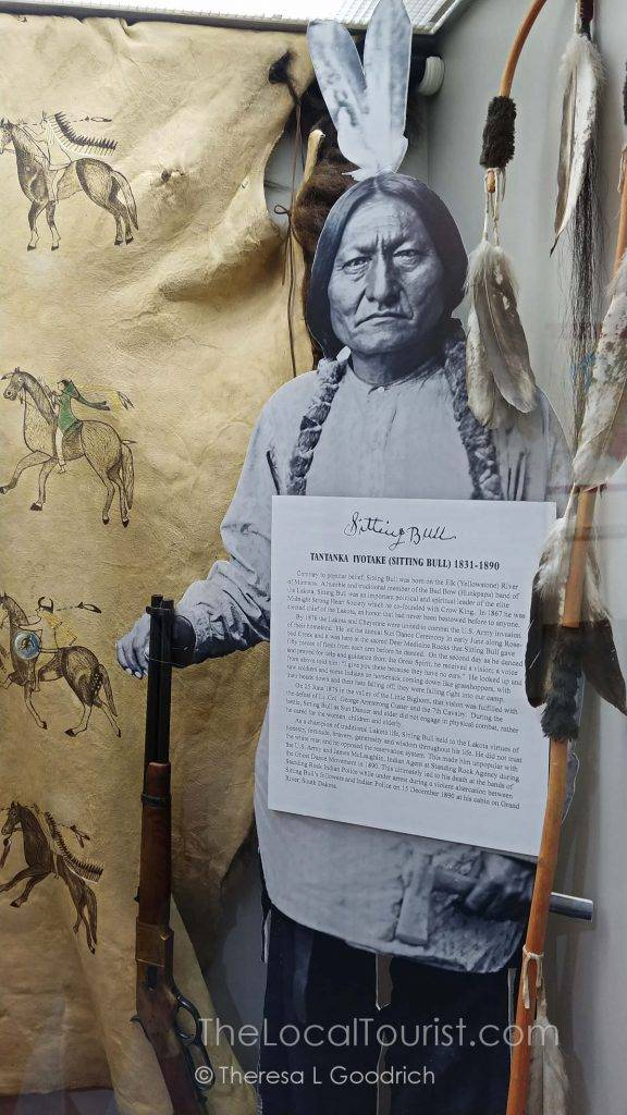Sitting Bull display at Little Bighorn Visitor Center