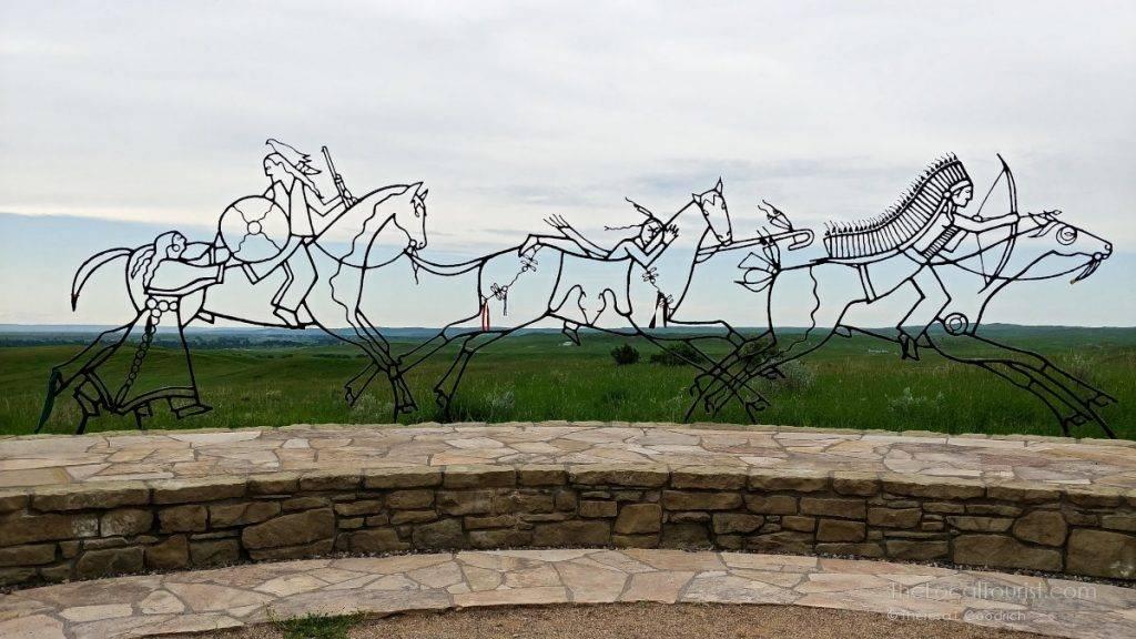 Native American Spirit Warriors Sculpture at the Little Bighorn Battlefield Indian Memorial