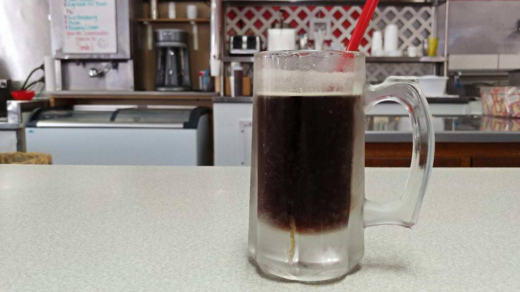 Frosty mug of root beer at Pro's Sandwich Shop in Mason City