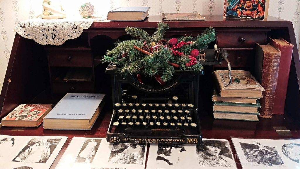 Dixie Willson's desk and vintage typewriter