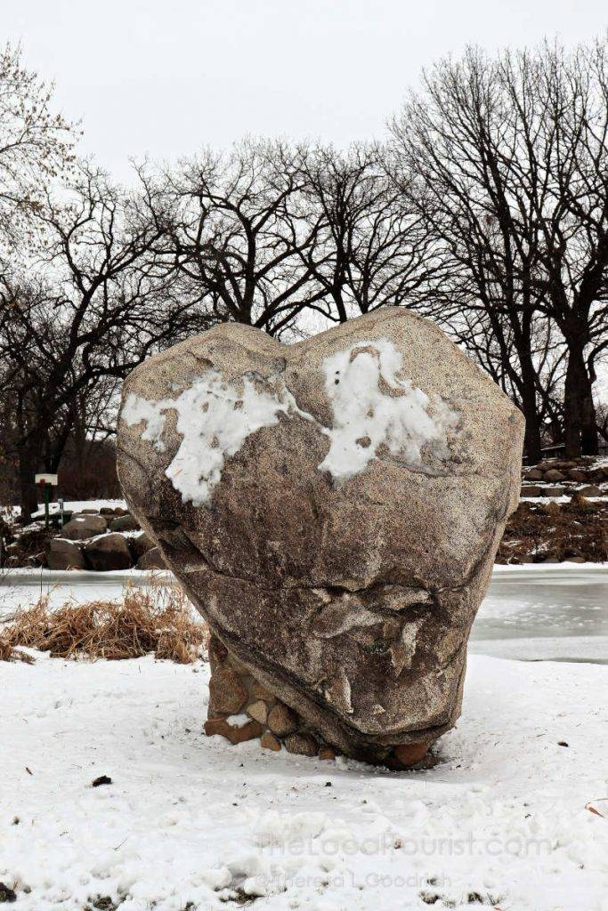 Heart-shaped rock at East Park