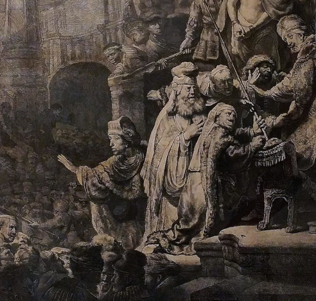 Rembrandt's Ecce Homo, an etching from 1636