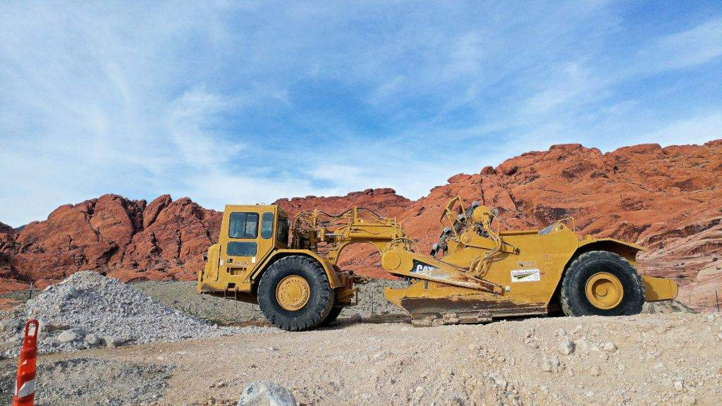 Red Rock Canyon Construction Vehicle