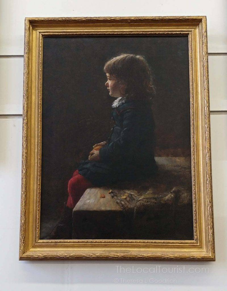 Portrait of Shirley, T.C. Steele's third child