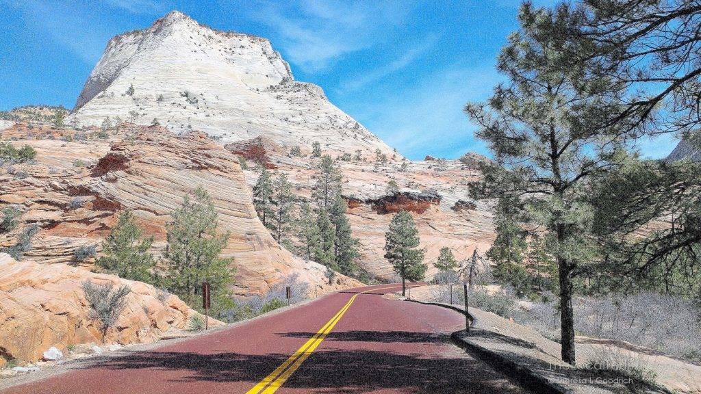 Utah SR-9 in Zion National Park