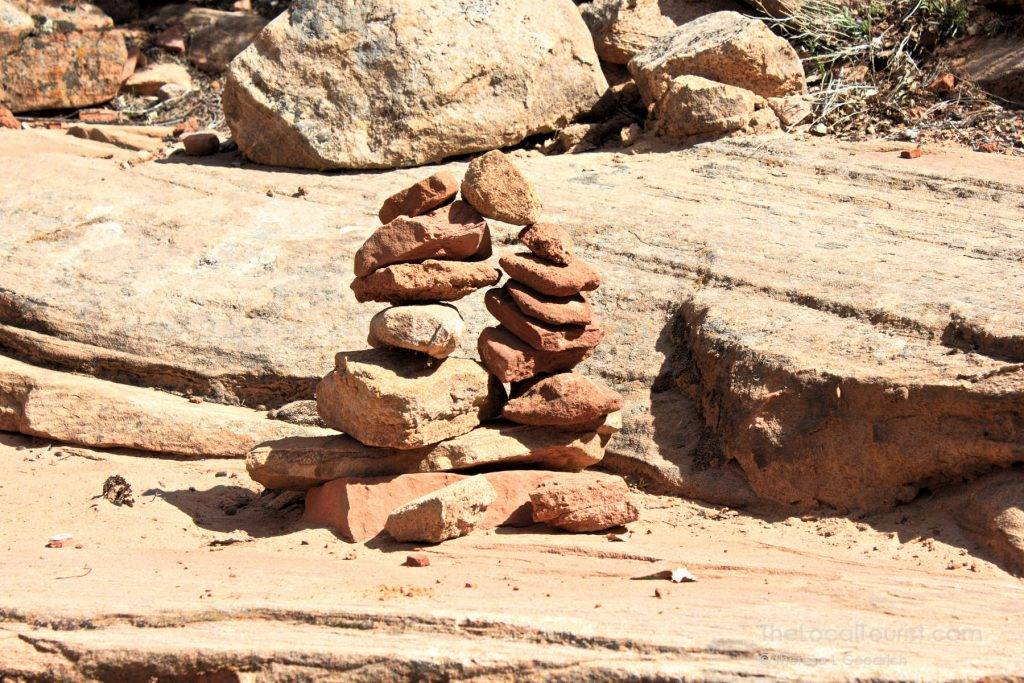 Rock cairn on the Canyon Overlook Trail in Zion National Park