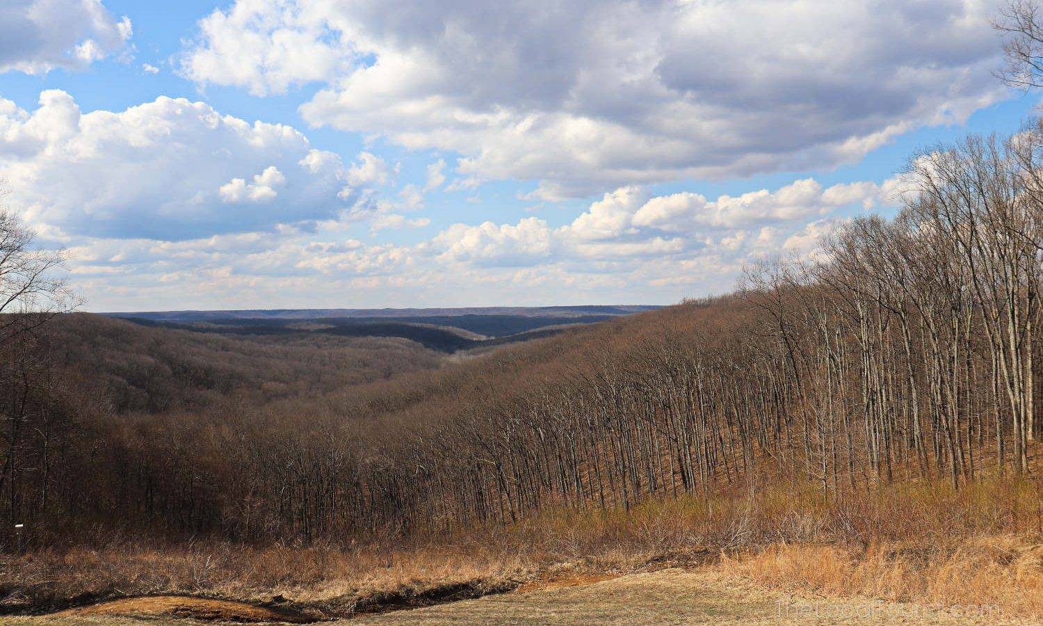 The wooded hills of Brown County