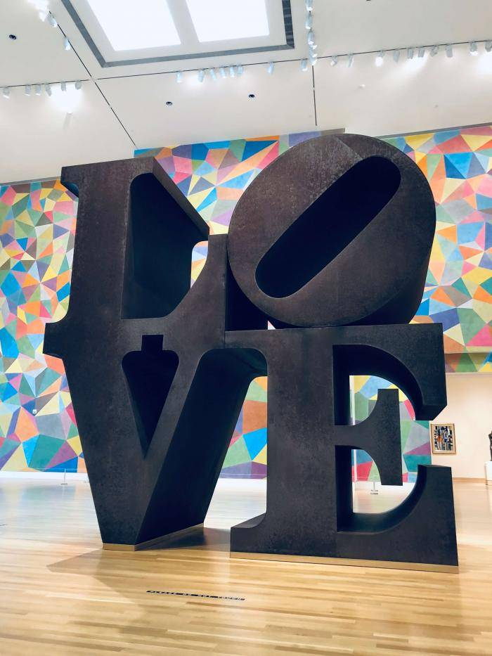 Robert Indiana's LOVE Sculpture at Newfields