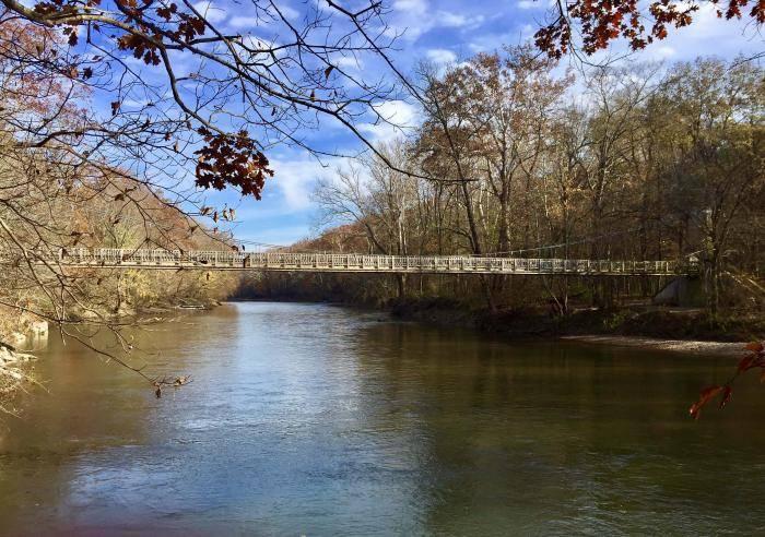 Suspension Bridge over Sugar Creek