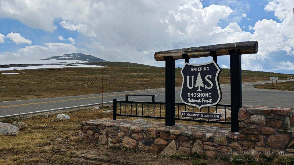 Entering Shoshone National Forest on the Beartooth Highway