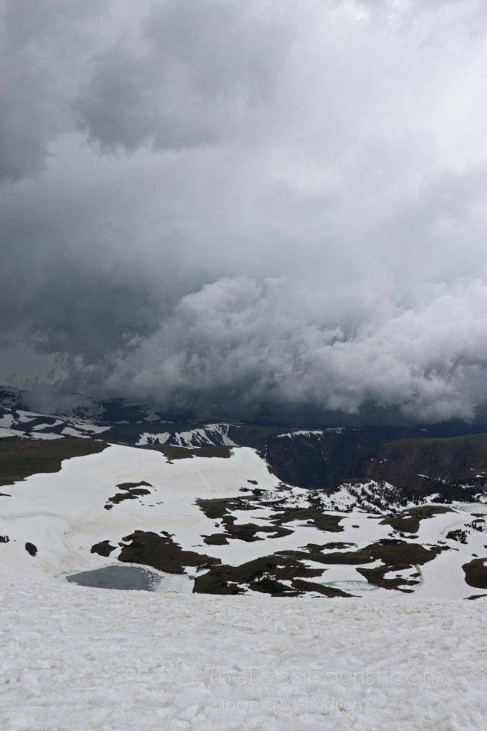 Ominous clouds from Beartooth Highway