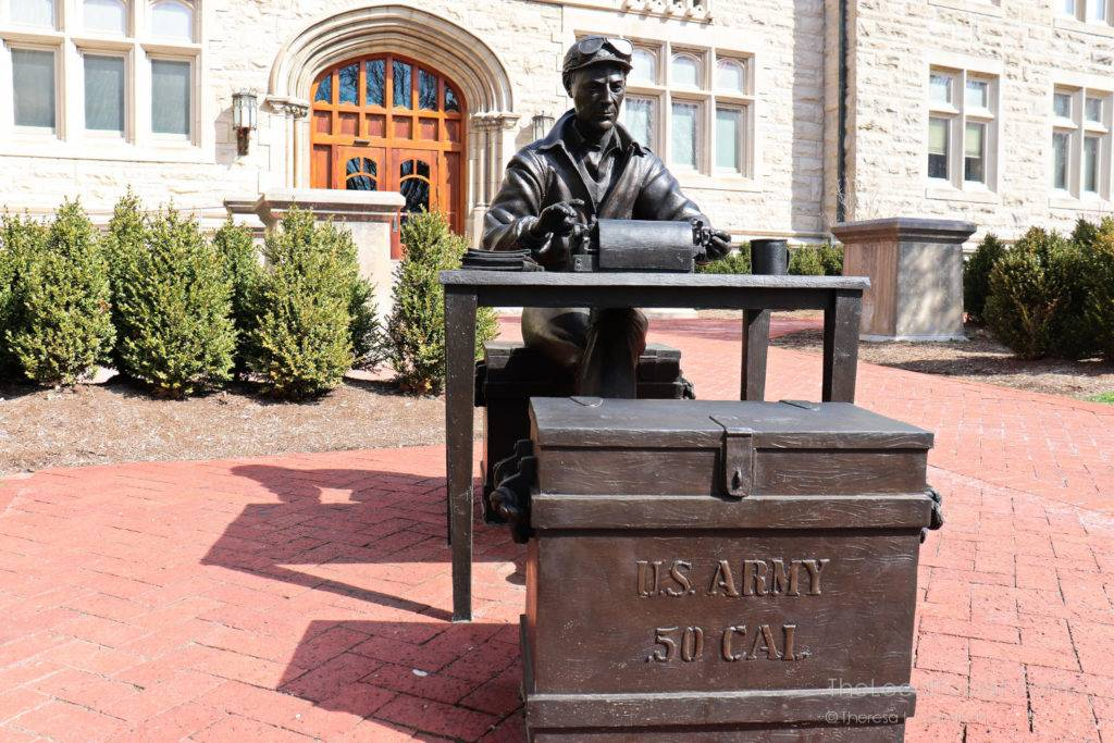 Statue of Ernie Pyle at Indiana University in Bloomington