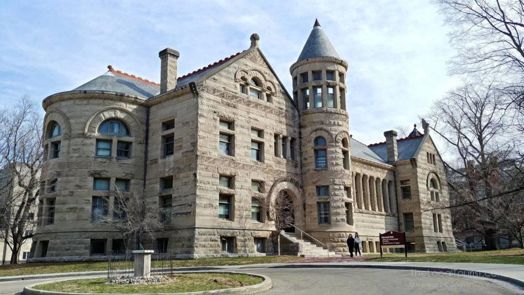 Beautiful limestone building at Indiana University
