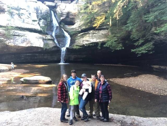 Gleason Family at Hocking Hills State Park, photo by Brandy Gleason