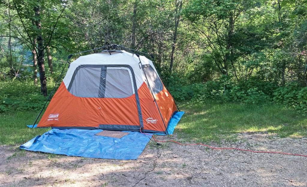 Campsite at Perrot State Park near Trempealeau Wisconsin