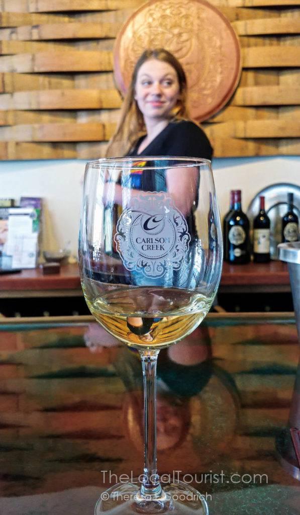 Meagan at Carlson Creek Vineyards