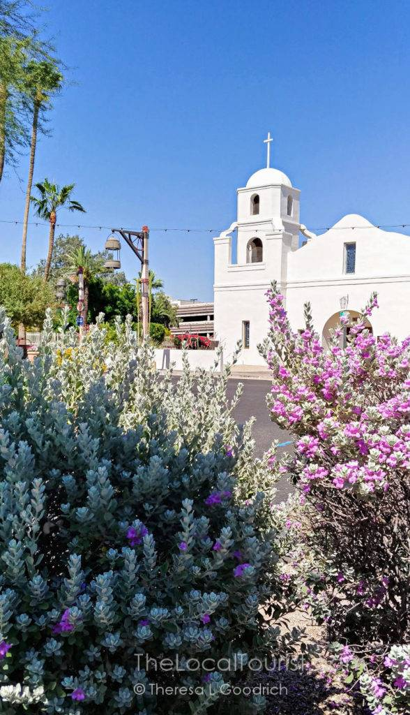 Old Adobe Mission, the oldest Catholic Church, and the oldest standing church, in Scottsdale