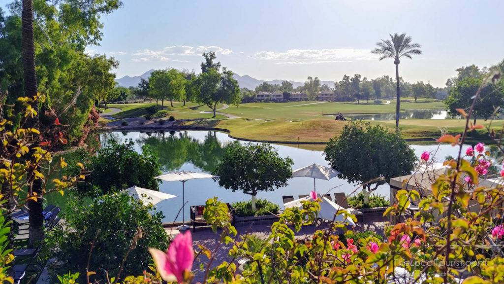 Golf course and pond at Hyatt Regency Scottsdale